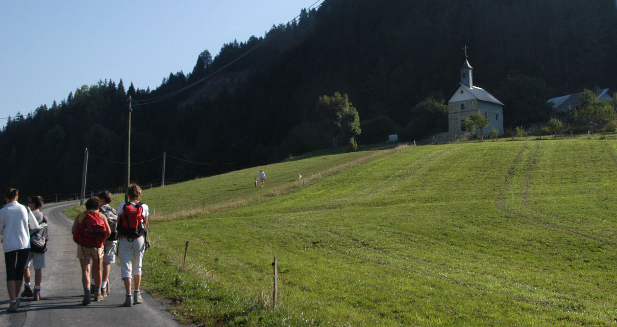Randonnée au départ de Thônes - Tour du Sulens - Chapelle de la Frasse
