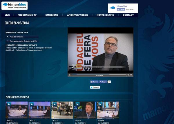 Interview sur Léman Bleu TV